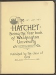 The Hatchet, 1919