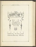 The Hatchet, 1921