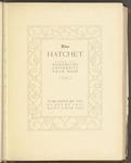 The Hatchet, 1924