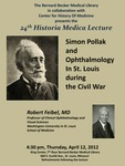 Simon Pollak and ophthalmology in St. Louis during the Civil War by Robert M. Feibel