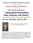 Biomedical Information: Past, present, and future by Mark E. Frisse