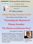 Unraveling the mysteries of human sexuality: The Masters and Johnson story by Robert C. Kolodny