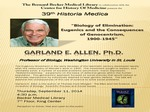 Biology of elimination: Eugenics and the consequences of genocentrism, 1900-1945 by Garland E. Allen