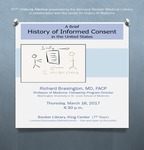 A brief history of informed consent in the United States by Richard D. Brasington Jr.