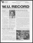 Washington University Record, March 19, 1981