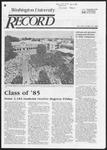 Washington University Record, May 16, 1985