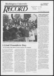 Washington University Record, September 26, 1985