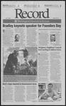 Washington University Record, October 19, 2001