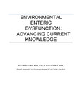 Environmental enteric dysfunction: Advancing current knowledge
